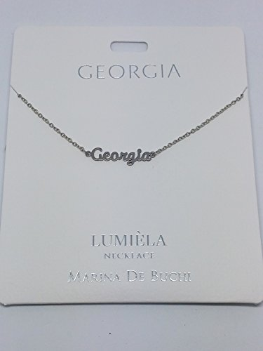 GEORGIA Named Lumeila Necklace Marina De Buchi Silver Colour Presented By Sterling Effectz