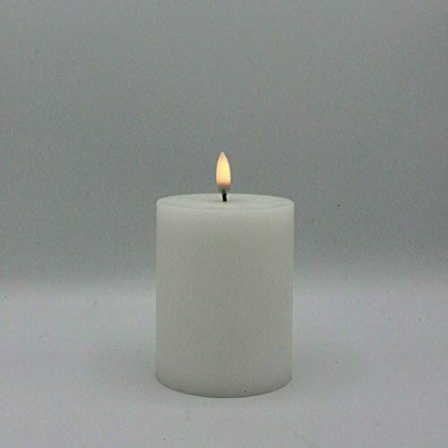 Uyuni Lighting Pillar - Candela a Led, 7,8 x 10,1 cm, colore bianco