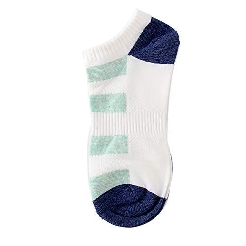 Alikeey Herensokken, katoen, ademend, korte sokken voor Loafers Boots Schoenen, Ballerina sneakers, 18 paar