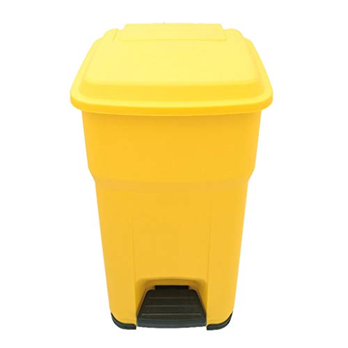 Why Choose WQEYMX Outdoor Trash can Trash can Outdoor Property Recycling bin Pedal 55L Wheeled Trash...