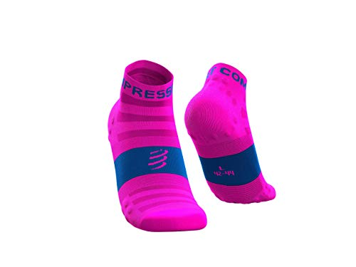 Compressport - COMPRESSPORT - Chaussettes - RACING SOCKS V3.0 ULTRALIGHT RUN LOW FLUO Rose - tailles : T4