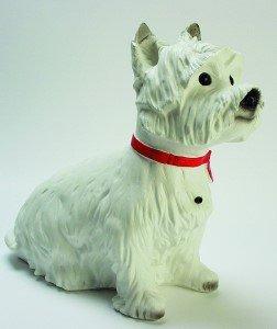 Hund mit Bewegungsmelder, 31 x 37 cm