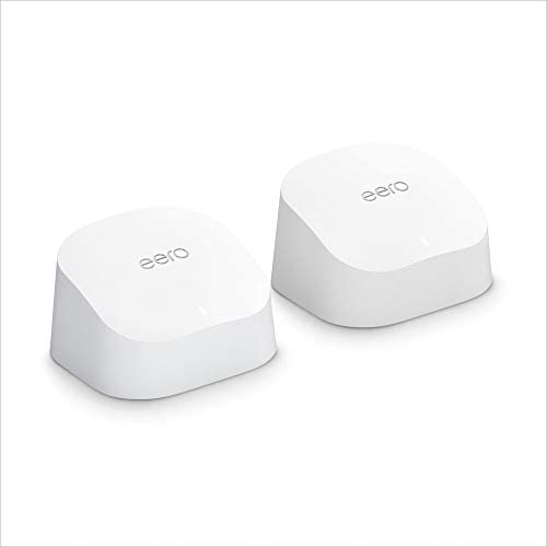 Introducing Amazon eero 6 dual band mesh Wi Fi 6 router with built in Zigbee smart home hub product image