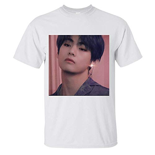 BTS Taehyung V Aesthetic Blue Hair T Shirt Gift Tee Graphic for Womens Man