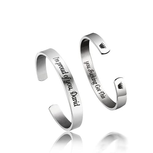 Personalized Stainless Steel Mirro Polished Cuff...