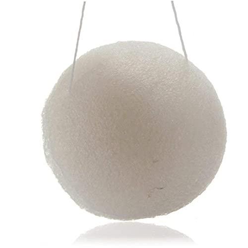 Sponge éponge Konjac Sponge Naturel Konjac Sponge avec Charbon de Bambou activé Exfoliant Konjac Eponge pour Tous Les Types de Peau Blanc