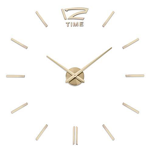 DLH Wandaufkleber Uhr, 70-90Cmdiy Uhr - Großes Wohnzimmer Runde Uhr - Acryl Wanduhr - Hauptdekoration,C