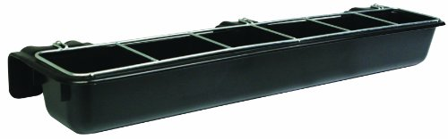 Little Giant Hook Over Goat Trough Hook Over Feed Trough, Easy to Hook and Mount (9 Quart) (Item No. HF9BLACK)