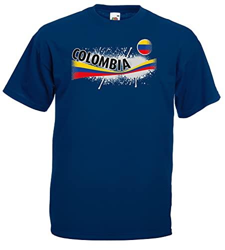 Kolumbien Herren T-Shirt Columbia Vintage Trikot|m-M