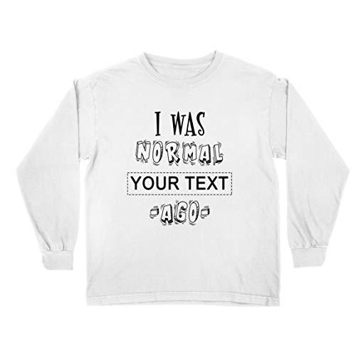 lepni.me Camiseta para Niño/Niña Personalizado Era Normal Texto Personalizado Hace un Regalo Personalizado (5-6 Years Blanco Multicolor)