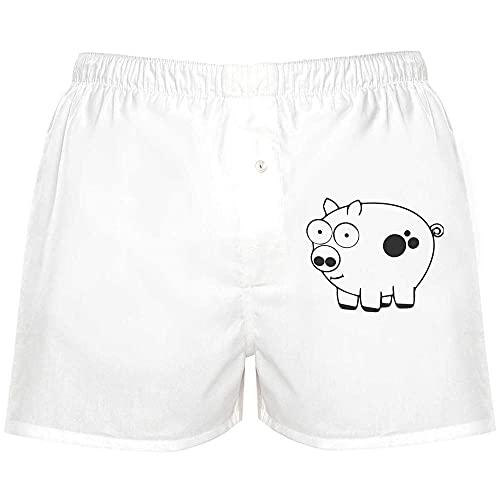 Azeeda 'Piggy Schwein' Boxer Shorts / Underwear / Mittel (BX00030833)