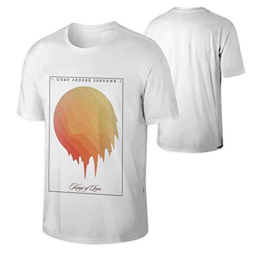 Mans Kings of Leon Come Around Sundown Music Band T ShirtsOutdoor Cotton T Shirts L Gift White