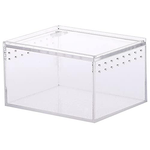 Caja de terrario, Caja de Alimentación de Insectos, Caja de cría de Reptiles, Caja Transparente para Reptiles, para cría de Reptiles, para Reptiles, Lagarto, Escorpio, ciempiés