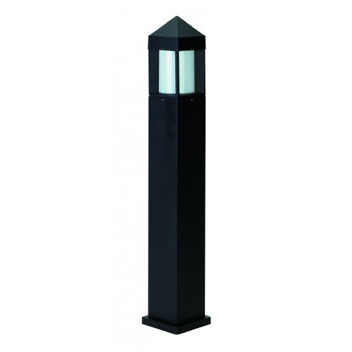 Albert 662241 Pollerleuchte, Aluminium, E27, 15 x 90 cm, schwarz