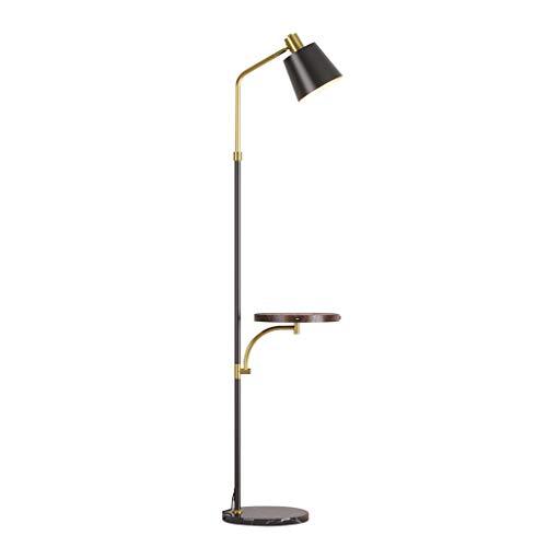 lámpara de pie Lámpara de pie LED con Mesa de Madera, lámpara de Lectura de pie con Puerto USB Incorporado, Poste de luz LED para el Cuidado de los Ojos para Salas de Estar Salon