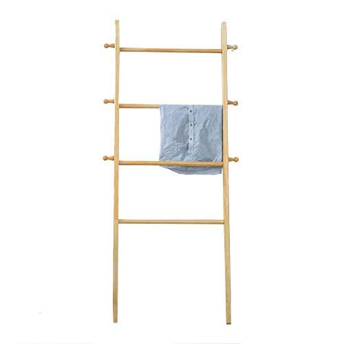 Handdoekhouder Ladder, Modern Handdoekenrek Met,4 Bars Gemaakt Van DurablePine, Praktische Badkamer Accessoire Voor Handdoeken Of Bad Handdoeken, 160 * 60CM