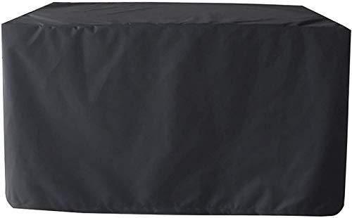 AXAA Cubierta para Muebles de jardín 244x244x30cm, Cuadrada Impermeable, Anti-UV, Cubierta de ratán para protección de Nieve, para Juego de Cubos, Patio, Protector de Muebles de Exterior.- Negro