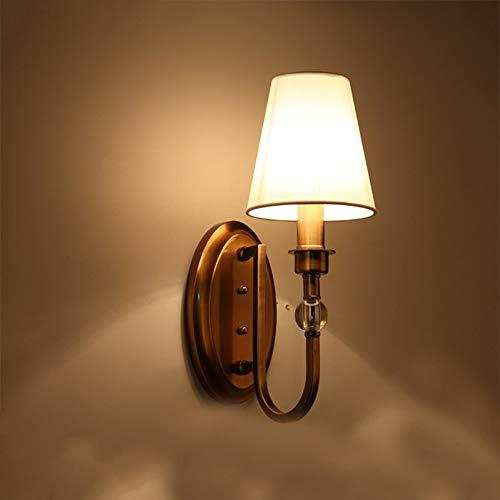 De enige goede kwaliteit Decoratie Amerikaanse Land Eenvoudige Muur Lamp Witte Lampenkap Metalen Verlichting Lampen 3-8 Vierkante Meter Corridor Slaapkamer Eetkamer Woonkamer Showroom Villa