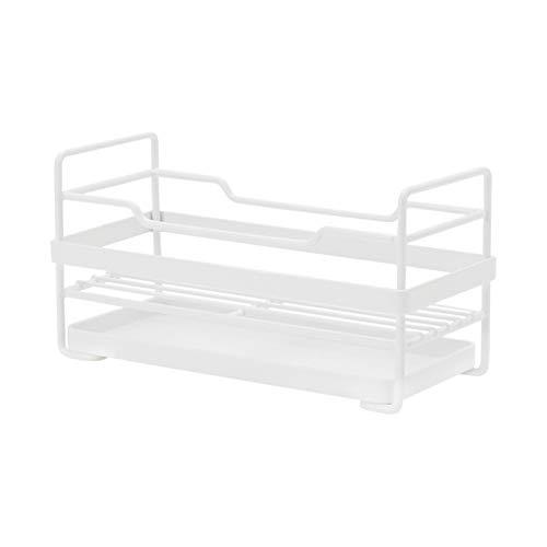 Estante de 3 niveles para platos de alambre de metal antioxidante multifuncional, soporte para tabla de cortar para cocina y baño