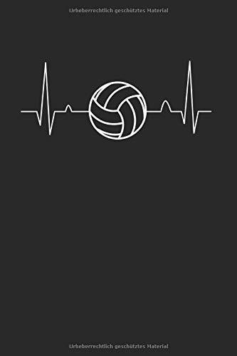 Volleyball Herzschlag | Notizheft/Schreibheft: Volleyball Notizbuch Mit 120 Gepunkteten Seiten (Dotgrid). Als Geschenk Eine Tolle Idee Für Volleyball Verrückte Oder Profi Volleyballspieler