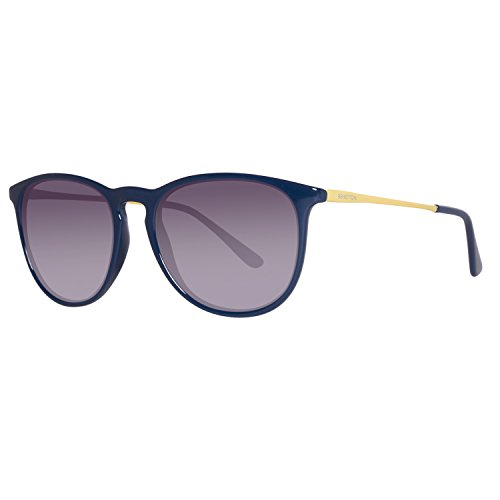 United Colors of Benetton Unisex-Erwachsene BE983S03 Sonnenbrille, Blau (Blue/Yellow), 56