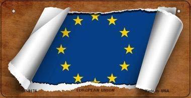 Koopje Wereld Europese Unie Vlag Scroll Nieuwigheid Fiets Plaat (Met Sticky Notes)