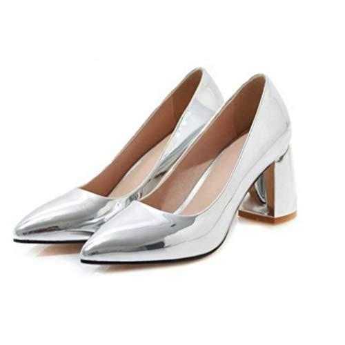 Streetwear Frauen Kleid Braut Gericht Schuhe Metall Farbe Gold Silber Pu High Heel Pumps Hochzeit Party Schuhe