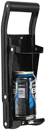 Black Can Crusher Wall Mounted Aluminum Can Crusher 16oz 12oz 8oz Heavy Duty Can Crushers For Recycling Wall Mounted Beer Can Opener And Crush Bottle Two Features In One Can Press