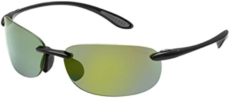 Bollé Kickback Sunglasses, Medium Large, Polarized Brown Emerald Oleo AF, Matte Black