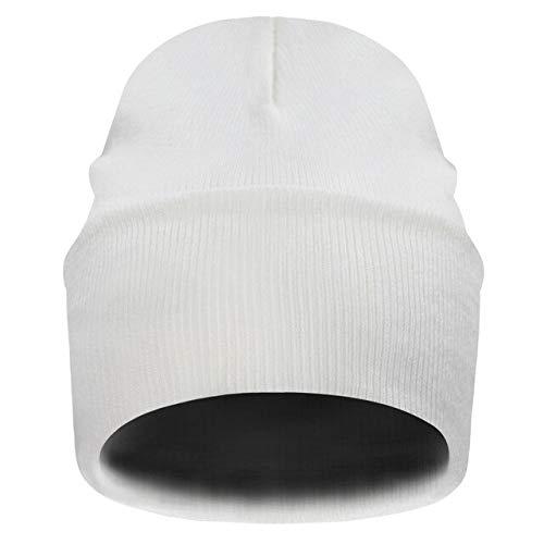 Unisex Neuer Hut mit Krawattenmuster Stricken, um den atmungsaktiven, kappenlosen Frauenhut 10 Farben warm zu halten-beige-One Size