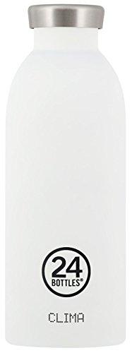 24Bottles Clima Bouteille d'eau en acier inoxydable Blanc 500 ml
