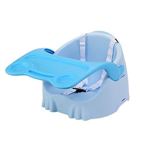 Kinder Schreibtische Tray Safety Belt Steady Anti Slip Safe Komfortable Tragbare Sitz Abnehmbare Einstellbare Baby Klappsessel Füttern Reisekinderstuhl ( Farbe : Blau , Größe : 39*37.5*40cm )