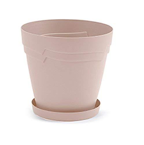 Whitefurze - Vaso Boston, plastica, Blush, 28cm Round Boston Planter