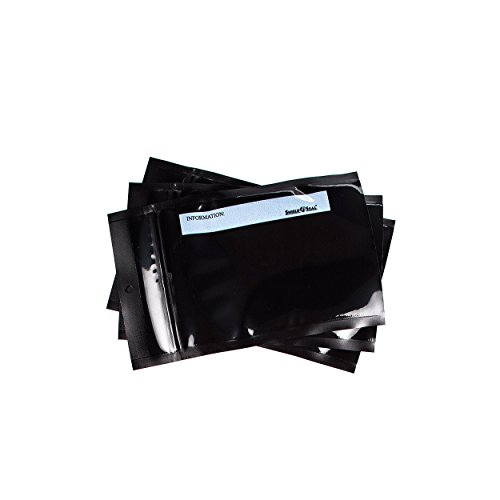 ShieldNSeal Vacuum Seal Bags (All Black Zipper Bags, 5