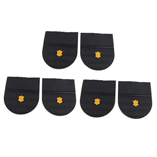 6x Mujeres Hombres Suelas de zapatos de goma negra Tacones Almohadillas Reemplazo Cuidado de zapatos de bricolaje