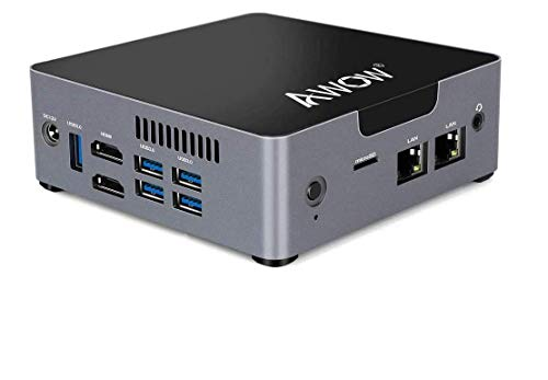 AWOW Mini PC AK34 Windows 10 6GB DDR4 128GB SSD Desktop Computer, Intel Celeron N3450 4K HD/Dual LAN/2.4G+5G WiFi/BT 4.2/HDMI