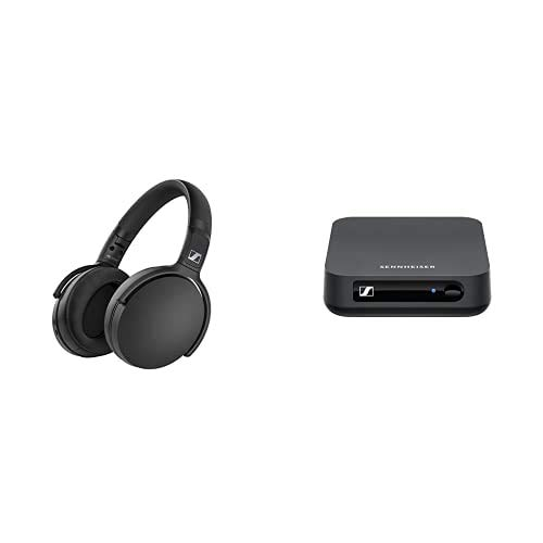SENNHEISER HD 350BT Bk Kabelloser Over-Ear-Kopfhörer mit BT T 100 Bluetooth-Audiosender