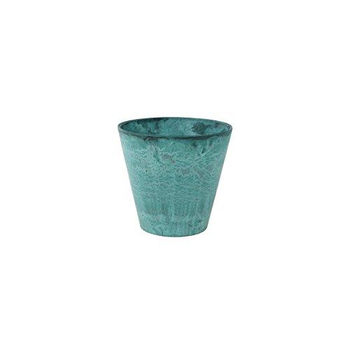 Artstone plantenbak, plantenbak Claire, vorstbestendig en lichtgewicht, azure, 17x17x15 cm, 136234