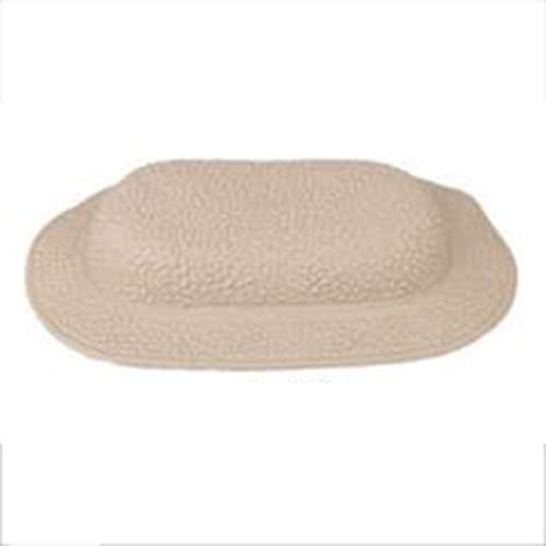 Badmatten met zuignappen, nekbadmatten, antislip, TPE badkussen badaccessoires,Beige