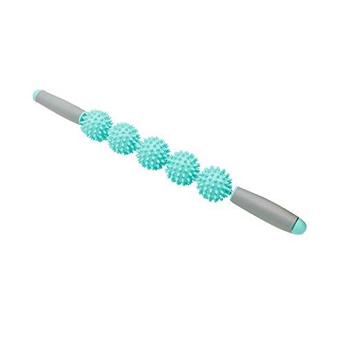 Comaie® Massage-Stick mit Griff Fascia Yoga-Sticks, Oberschenkel Hüfte Taille Bauch Prickly Ball Igel Muskel-Roller