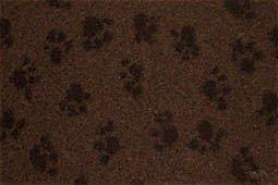 Hundedecke, Thermodecke Braun, Schwarze Pfötchen, waschbar, antirutsch, 75x50cm, 30mm