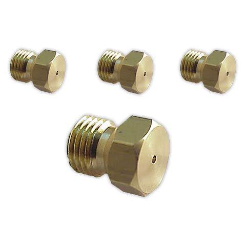 DOJA Industrial | Inyectores ENCIMERA/COCINA para Gas butano/natural | Métrica 7 | (Pack de 2 Inyectores de 0,65 mm y 2 Inyectores de 0,77 mm)