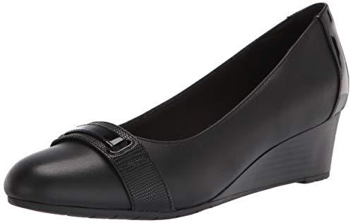 Clarks Mallory Strap - Zapatos Bajos para Mujer, Color Negro, Talla 37 EU Weit