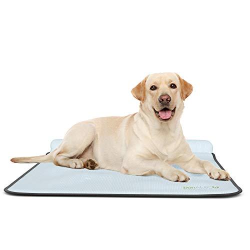 bonamico Cool Buddy Cooper, Waschbare Kühlmatte für Hunde, Kühlendes Hundebett Für's Auto, Outdoor Oder Zuhause, Tragbare Hundedecke Für Angenehme Ruhe Im Sommer, Kühldecke für Hunde
