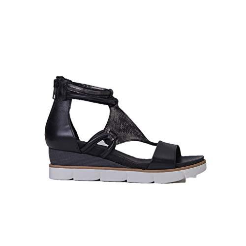Mjus 866002-101-6002 - Damen Schuhe Sandaletten - Nero, Größe:37 EU