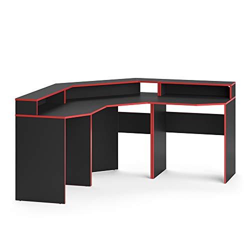 Vicco Gaming Desk Schreibtisch Kron Gamer PC Tisch Computertisch Bürotisch (Set 1)
