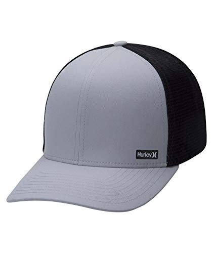 Hurley Men's League Dri-Fit Snapback Baseball Cap, Grey/Black, One Size