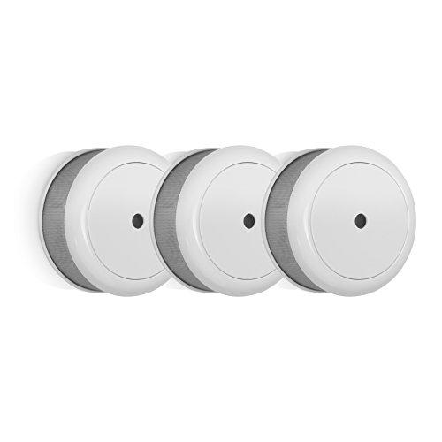Smartwares RM620/3 3x Q-Rauchmelder/ Mini 10-Jahres Rauchwarnmelder mit VDS & DIN EN14604, 75 x 35 mm