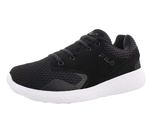 Fila Women's Layers Running Sneakers, Black Mesh, EVA, 8.5 M