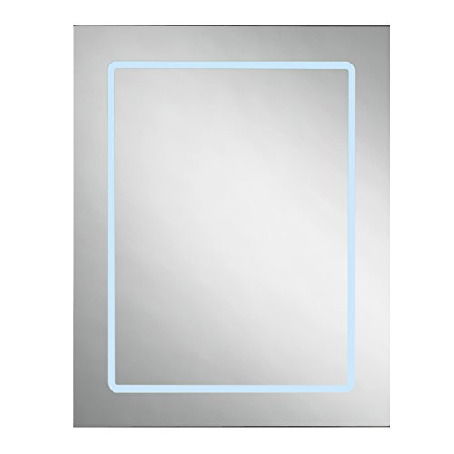 Ove Decors Cassini LED Lighted Medicine Cabinet, 25-Inch by 20-Inch by 6-Inch